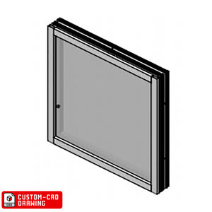 Armortex 1WFA625-CUSTOM-CAD Custom-CAD Extruded Aluminum Windows Frame