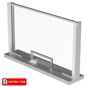 Armortex 1WHTF-CUSTOM-CAD Custom-CAD Windows Hinged Panel Transaction Frame