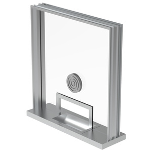 Armortex 1WHTFA Custom Windows Hinged Panel Transaction Frame Aluminum