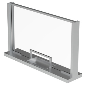 Armortex 1WHTFC Custom C Channel Transaction Windows Hinged Panel