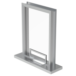 Armortex 1WHTFH Custom Windows Hinged Panel Transaction Frame Hollow Metal