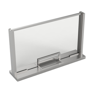 Armortex 1WHTFS Custom Windows Hinged Panel Transaction Frame Stainless Steel
