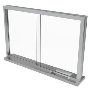 Armortex 1WSTFS Custom Windows Sliding Transaction Frame Stainless Steel