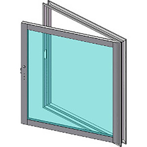 Armortex 1HMWOF Custom Hollow Metal Transaction Windows Operable Frame