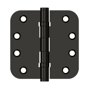 "Deltana DSB4R5B10B 4"" x 4"" x 5/8"" Radius Hinges, Ball Bearing in Oil-rubbed Bronze"