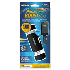 RAY-O-VAC RAYPS77 Phone Boost Charger, Apple 30-Pin, Black