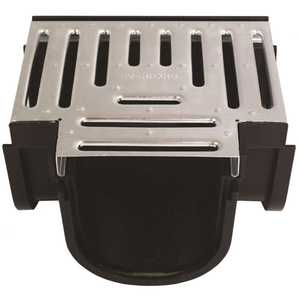 U.S. TRENCH DRAIN 83900 Deep Series Tee for 5.4 in. Trench and Channel Drain Systems w/ Galvanized Steel Grate