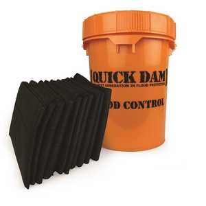 Quick Dam QDGG5-10 Grab and Go Flood Barrier Kit Contains 10 - 5 ft. Flood Barriers