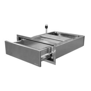 "ShureSAFE SPT150 18"" W x 25"" D x 5"" H Thru-Wall Transaction Drawer Full Length"