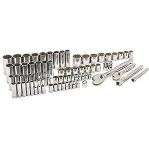 GEARWRENCH 83001 1/4 in. and 3/8 in. Drive 90-Tooth Mechanics Tool Set