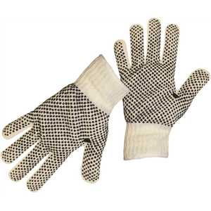Boss 1JP5522 Large String Knit Reversible with Full PVC Dots and Color-Coded Hem Glove