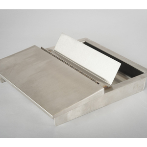"""TSS FLRCTBT1416 14-1/2"""" x 16-1/2"""" x 2-3/4"""" Recessed Currency Tray Flip lid With Bullet Trap Level 3"""