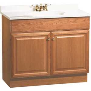 RSI HOME PRODUCTS C14036A 36 in. x 31 in. x 18 in. Richmond Bathroom Vanity Cabinet with Top with 2-Door in Oak