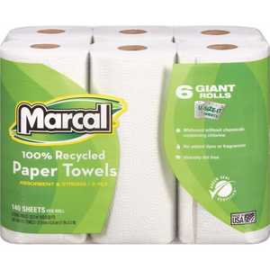 5-3/4 in. x 11 in. 100% Premium Recycled Giant Roll Towels (140-Sheets per Roll )