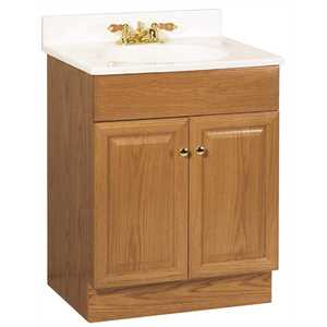 RSI HOME PRODUCTS C14024A 24 in. x 31 in. x 18 in. Richmond Bathroom Vanity Cabinet with Top with 2-Door in Oak