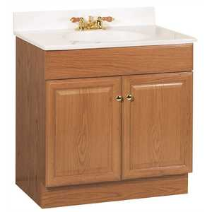 RSI HOME PRODUCTS C14030A 30 in. x 31 in. x 18 in. Richmond Bathroom Vanity Cabinet with Top with 2-Door in Oak