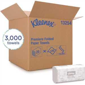 KLEENEX 13254 White Scott fold Multi-Fold Paper Towels Absorbency Pockets (, 120 Towels/Pack, 3000 Towels/Case)