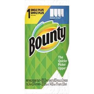 BOUNTY 003700047792 Select-A-Size White Paper Towel Roll (83 Sheets Per Roll )
