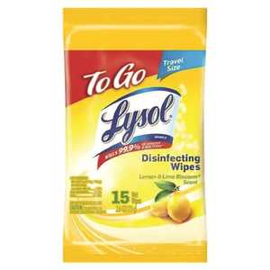 LYSOL 3155981 Lemon and Lime Blossom To-Go Flatpack Disinfecting Wipes