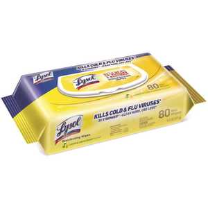 LYSOL 3155982 Lemon and Lime Blossom Disinfecting Wipes, Flat pack (80 wipes per Pack, )
