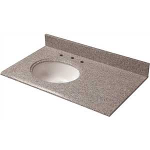 Pegasus 39603 37 in. W Granite Vanity Top in Napoli with Offset Left Bowl and 8 in. Faucet Spread