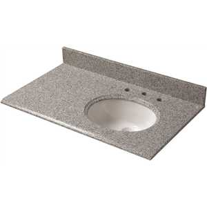 Pegasus 38603 37 in. W Granite Vanity Top in Napoli with Offset Right Bowl and 8 in. Faucet Spread