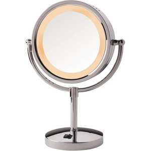 Jerdon HL745CO 8.5 in. Dia 5X-1X Halo Lighted Mirror in Chrome