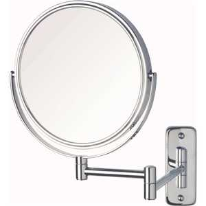 Jerdon JP7506CF 8 in. Dia Bi-View Wall Mount Makeup Mirror in Chrome