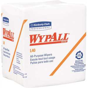 L40 Disposable Cleaning Drying Towels Limited Use, White (, 56-Sheets/Pack, 1,008-Sheets Total)