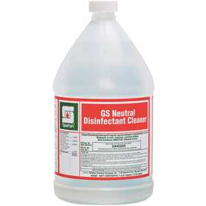 Spartan Chemical 350204-XCP4 GS Neutral Disinfectant Cleaner 1 Gallon One Step Cleaner/Disinfectant - pack of 4