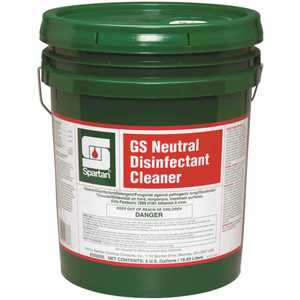 Spartan 350205 GS Neutral Disinfectant Cleaner 5 Gal. 1-Step Cleaner/Disinfectant