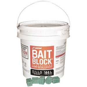 JT Eaton 709-PN Bait Block Peanut Butter Flavor Anticoagulant Rodenticide for Mice and Rats (144-Blocks)