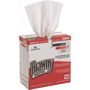 Brawny Industrial 19881/01 White 4-Ply Scrim Reinforced Paper Wipers