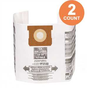 High-Eff. Size B Dust Collection Bags for 5-8 Gal. Shop-Vac Branded Vacs, 5-10 Gal. RIDGID Vacs, except HD0600