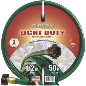 Flexon FR1250C 1/2 in. Dia x 50 ft. Light Duty Garden Hose