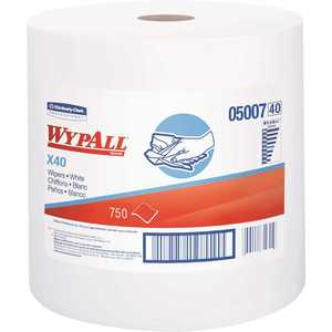 L40 White Disposable Cleaning and Drying Towels of Limited Use (1 Jumbo Roll/Case, 750 Sheets per Roll)