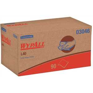 WypAll 03046 L40 White Disposable Cleaning and Drying Towels (9 Pop-Up Boxes per Case, 90 Sheets per Box, 810 Sheets Total)