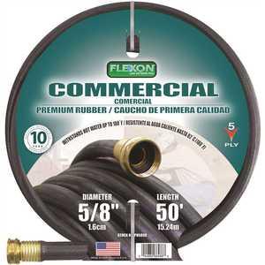 Flexon PH5850C 5/8 in. Dia x 50 ft. Premium Commercial-Grade Rubber Hose