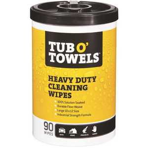 Tub O' Towels TW90 Citrus Scent Heavy-Duty Cleaning Wipes