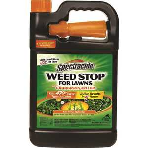SPECTRACIDE HG-96587 Weed Stop for Lawns 128 oz. Ready-To-Use Weed Plus Crabgrass Killer