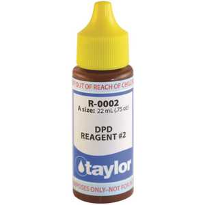 TAYLOR TAY-45-996 0.75 oz. Bottle Test Kit Replacement Reagent Refill Bottles DPD Reagent #2