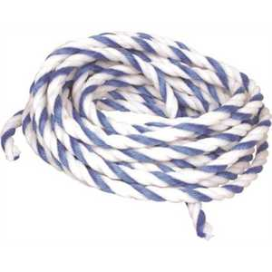 American Granby AMG-40-2231 3/8 in. x 50 ft. Braided Blue and White Pool Rope