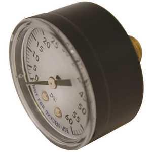 Super Pro SPG-06-1002 2 in. Pool Filter Pressure Gauge Plastic ,Threaded 1/4 in. Back Mount