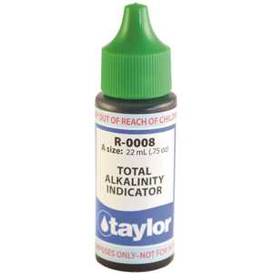 TAYLOR TAY-45-998 3/4 oz. Test Kit Replacement Reagent Refill Bottles Alkalinity Indicator Reagent