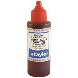 TAYLOR TAY-45-1019 2 oz. Test Kit Replacement Reagent Refill Bottles Phenol Red Solution