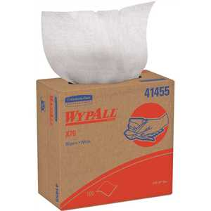 WypAll 41455 X70 White Extended Use Reusable Cloths Pop-Up Box (, 100-Sheets/Pack, 1,000 -Sheets/Case)