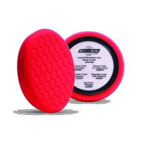 Buff and Shine 621RH EUROPEAN RED FOAM GRIP PAD/W HEX FACE & CENTER BACKING RING BACKING