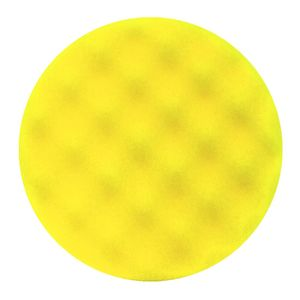 Buff and Shine 630WR Yellow foam grip pad with convoluted face pattern and center ring