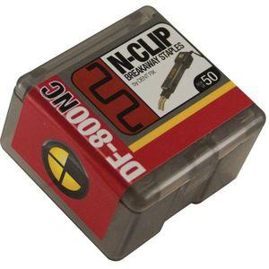 DF-800NC50 Breakaway Staple N-Clip, Stainless Steel, Use With: DF-400BR, DF-800BR Hot Stapler