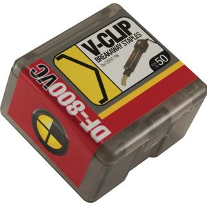 DF-800VC50 Breakaway Staple V-Clip, Stainless Steel, Use With: DF-400BR, DF-800BR Hot Stapler
